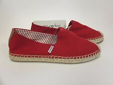 Joy and Mario Red Canvas Espadrille Slip On Flat Women's US sizes 6-11 NEW!!!