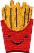French Fries chips potatoes retro fun embroidered applique iron-on patch S-1313
