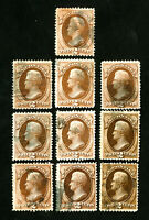 US Stamps # 146 VF Nice Used Lot of 10 Catalog Value $175.00