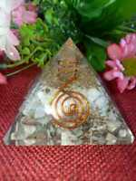 Orgone Pyramid 50 MM Larimar Copper - Pyrite For Stress & Anxiety Relieving