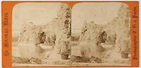 París Parque Buttes-Chaumont Francia Foto Estéreo Th1L7n58 Vintage Albúmina