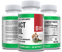 MCT Oil Softgels Coconut Oil Capsules Keto Ketogenic Ketosis Diet Supplement