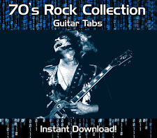 260+ CLASSIC 70's ROCK GUITAR TABS TABLATURE DOWNLOAD SOFTWARE CD