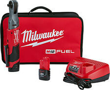 """Milwaukee Electric Tool 2557-22 M12 Fuel 3/8"""" Ratchet With 2 Battery Kit"""