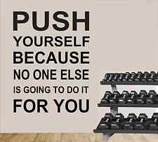 PUSH YOURSELF GYM WALL STICKER  WALL ART STICKER DECAL  Wall Decals & Stickers