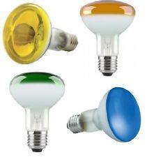 4x 60W R80 Coloured Reflector Dimmable Disco Spot Light Bulbs ES E27 Screw Lamps