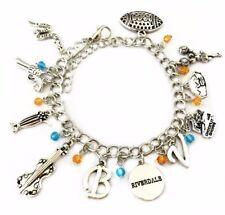 Riverdale TV Show Themed Silvertone Metal Charm Bracelet