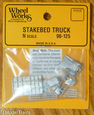 Wheel Works N #96125 Stakebed Truck (Kit) Light Cast Metal (1:160th Scale)