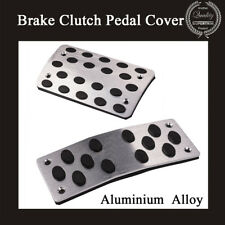 2 PCS Automatic Car Nonslip Brake Clutch Pedal Cover Set Foot Treadle Aluminium