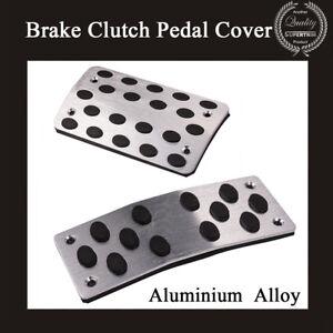 2 PCS Automatic Car Nonslip Brake Clutch Pedal Cover Set Foot Treadle Aluminium