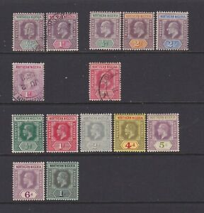 NNG1 Northern Nigeria 1902-12 small used/MH collection values to 1s.
