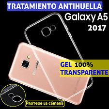 FUNDA TPU DE GEL SILICONA PARA SAMSUNG GALAXY A5 2017 100% TRANSPARENTE CARCASA