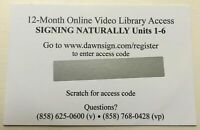 12-Month Access Code for Signing Naturally Student Workbook Units 1-6