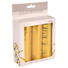 FOLAT 22750 - Geburtstag & Party - Luftschlangen, 3er Pack, gold