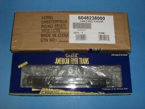 """American Flyer '04 NASG """"GE"""" Cable Reel Flatcar #6-48238"""
