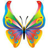 20 transfer nail art transfer decals multi colored butterfly 3/8 inch trending