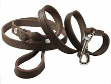 Genuine Leather Braided Dog Leash 6ft Pitbull, Amstaff