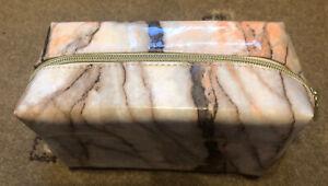 Tarte Make Up/Wash Bag, Marble Effect, Gold Zip, New