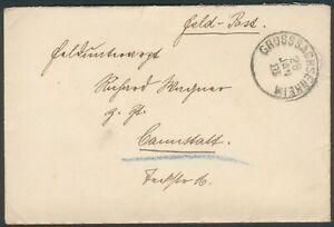 Deutsche Feldpost Brief an Richard Wagner,Grosssachsenheim 28.Jan 1918 Cannstatt