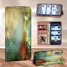 Background PU Leather Phone Stand Cover Case For Sony Xperia L4/1 II/10 II