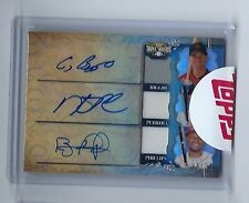 2013 Topps Triple Threads Craig Biggio Dustin Pedroia Phillips Auto Patch #d/36