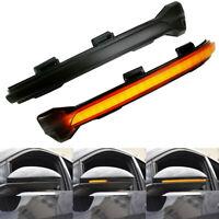 2 Smoke LED Dynamic Turn Signal Light Wing Mirror Indicator For VW Golf MK7 GTI