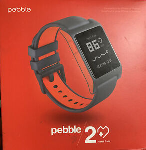 Pebble 2 + Heart Rate (Black/Red) Polycarbonate  - Open Distressed Box