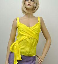 $890 NEW Authentic Gucci Silk Tank Top w/Wrap, Yellow, sz 44, 235348