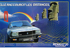 PUBLICITE ADVERTISING   1981   RENAULT 20 TX ( 2 pages)