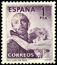 ESPAÑA 1950 1070 San Juan de Dios