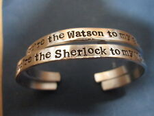 """You're the Sherlock to my Watson"" ""You are the Watson to my Sherlock"" bracelets"