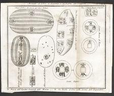 MONETE GIAPPONE JAPON COINS - THOMAS SALMON Incisione Originale 1700