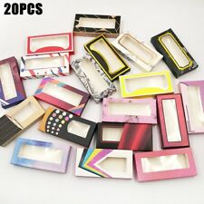 20× Empty Eyelashes Packaging Soft Paper Lash Box for 25MM 3D Mink Strip Lashes