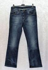 Damen-Bootcut-Jeans mit niedriger Bundhöhe (en)/Fetzen Effekt