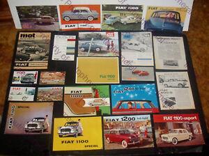 LOT of 22 1950s 60s FIAT 500 600 1100 1200 BROCHURES Catalogs PROSPEKT Multipla