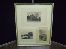 Oskar Paul Matthes signed with 2 others look rare set pen & ink