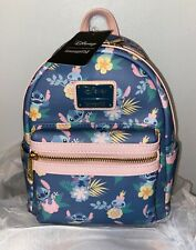 Loungefly Disney Lilo and Stitch Scrump Floral Pastel Mini Backpack Bag Nwt!