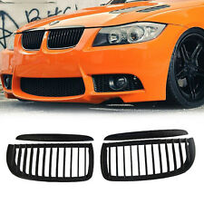 Black Matte Front Grill Grilles For BMW M3 05-08 E90 E91 3 Series 4D Right&Left