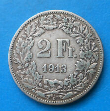 Suisse Switzerland Helvetia 2 francs argent 1913 km 21