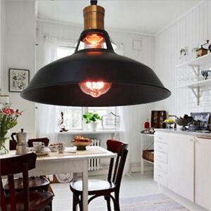 Retro Celing Lights Kitchen Black Chandelier Shop LED Pendant Lighting Bar Lamp