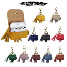 Accessories Tassel Leather Pouch Bag Charging Case Cover For Apple AirPods Pro