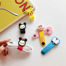 Cute button winder Cartoon Cable Organizer Wrap Manage Wire Earphone Holder hub