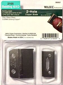 WAHL FIVE STAR  BALDING CLIPPER BLADES 6 X 0  # 2105 MADE iN USA !