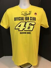 VALENTINO ROSSI THE DOCTOR SIGNED 46 RACING OFFICIAL FAN CLUB T SHIRT