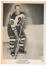 1939-40 O-Pee-Chee V301-1 Eddie Shore Boston Bruins # 100 (5 x 7 card) Very Nice