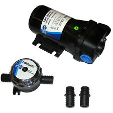 "Jabsco Marine PARMax 3 Self-Priming Shower Drain Water Pump 12V 10A 3.5 GPM 3/4"""