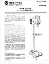 Rockwell Delta 15 Inch Utility Drill Press Manual
