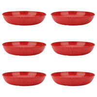 "Zak Designs Confetti Melamine 8"" Pasta Bowl 35 oz. Red 6-piece set"