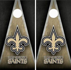 New Orleans Saints Cornhole Wrap Skin Board NFL Sports Vinyl Decal GC78