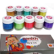 korea Non-toxic Body Painting pearl paint Metallic set 10ml*10p set